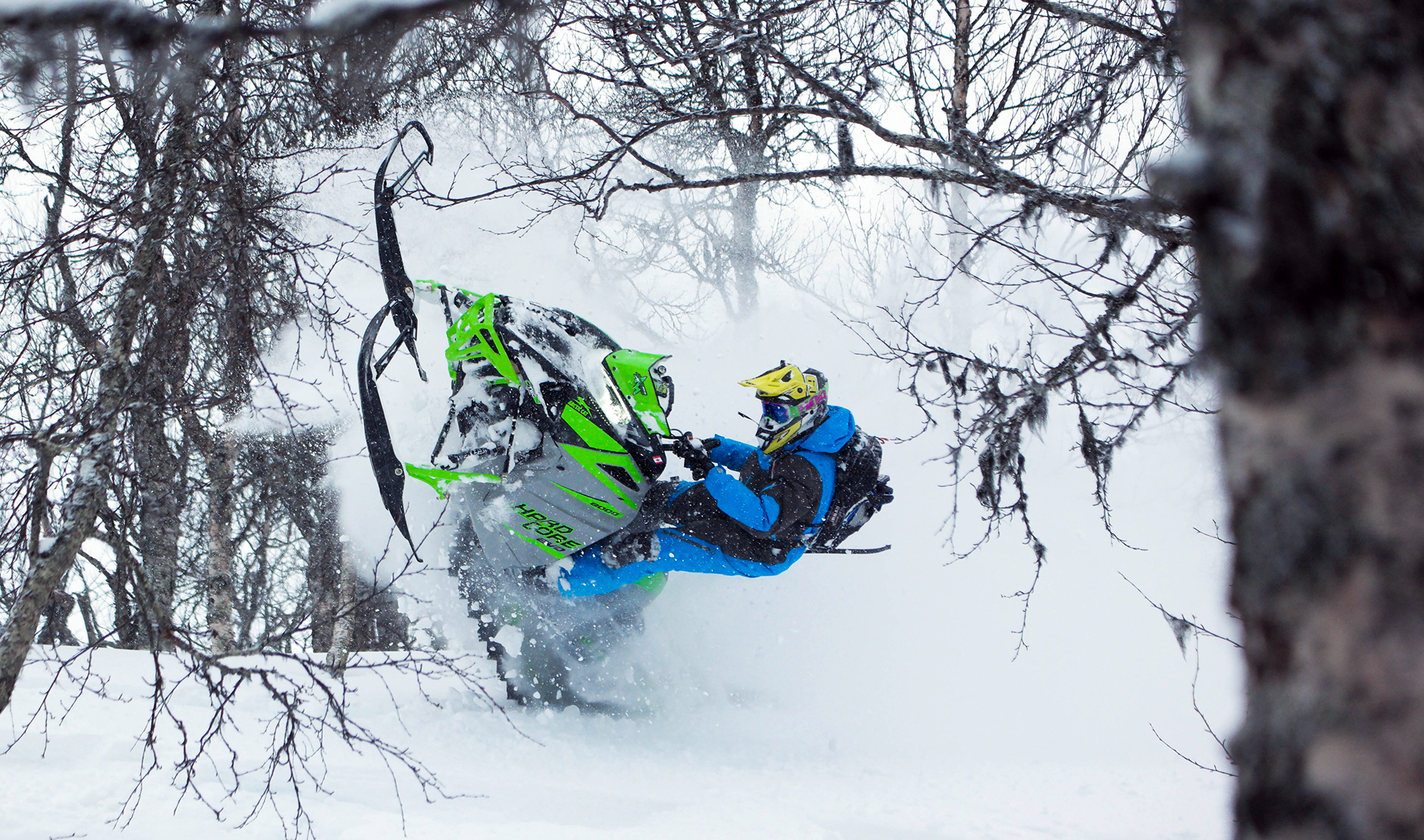 Backcountry snowmobiling in Saxnäs, Marsfjäll Mountain Lodge - Sweden